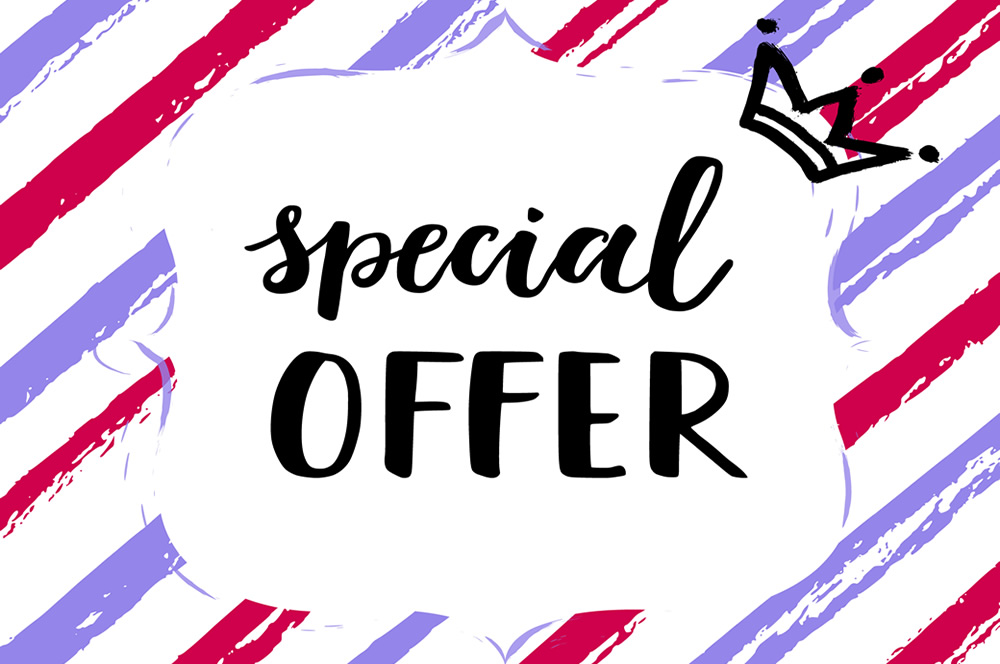 Special Offers | Even 50 Pieces For the First Order